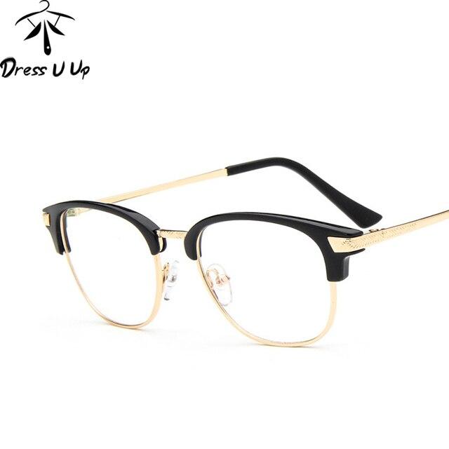 DRESSUUP Rétro Montures de lunettes Nerd Lunettes Femmes Vintage Femme  Effacer Objectif Lunettes Pour Hommes Marcos 94c9266ee8a3