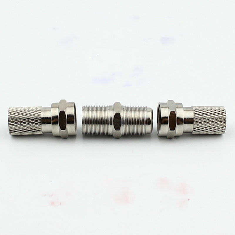 все цены на Spin high-quality goods line cable connector/TV connector/extend joint F head bolt docking онлайн