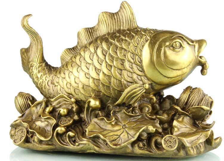 الصين وضع النحاس الأسماك المنزلية زخرفة جيدة جدا-في التماثيل والمنحوتات من المنزل والحديقة على  مجموعة 1