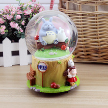 2015 creative home decorations ornaments gift crystal ball music box birthday gift free shipping paternity Chinchilla