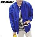 DREAK Весна тонкий срез свободно вышитые куртки мужские большой размер мужчины одежда куртка колледж мальчиков куртка хип-хоп мода