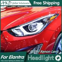 AKD Car Styling Head Lamp For Hyundai Elantra Headlights Elantra LED Headlight Korea Design DRL Bi
