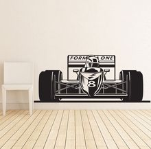 Free shiping Formula 1 One Racing Sports Car Wall Decal Art Boys Room Home Decor Stickers Vinyl Decoration Mural Paper