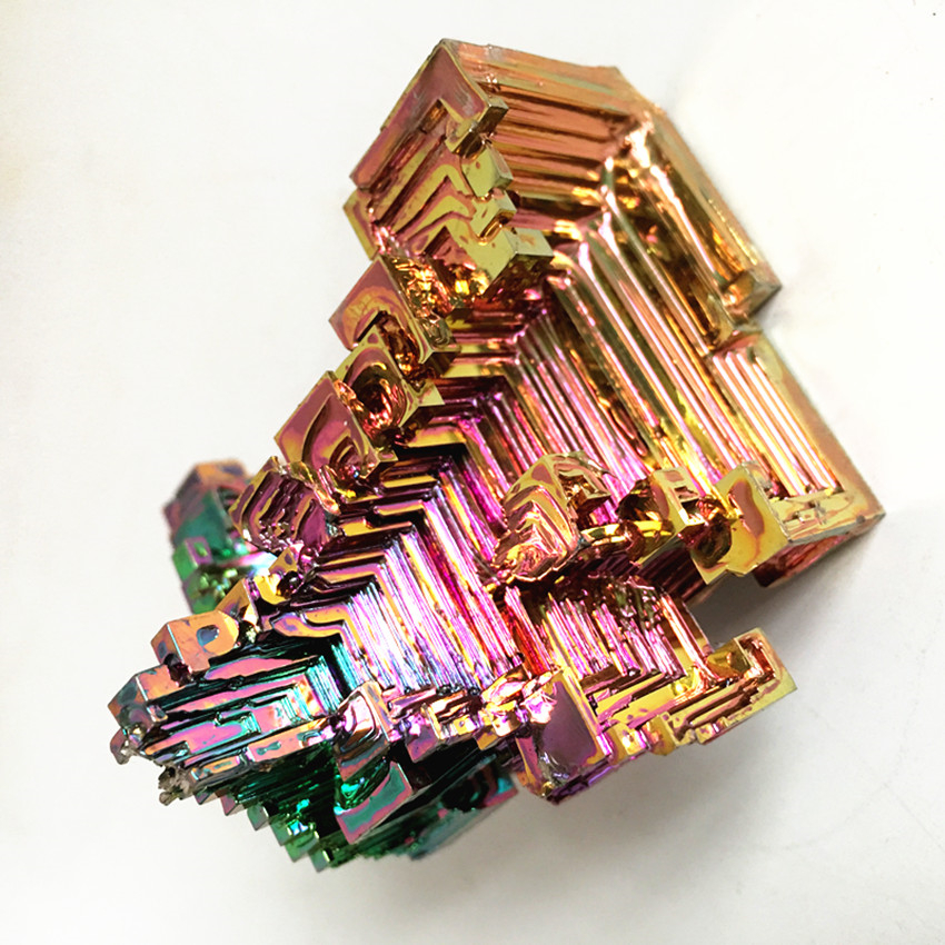 80-100g natural bismuth mineral rainbow reiki healing home decoration specimens
