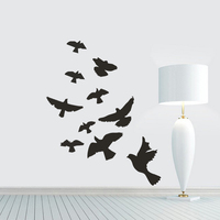 DIY Flying Birds Wall Sticker Pigeon Removable Vinyl Wall Decal Mural Home Decor For Living Room