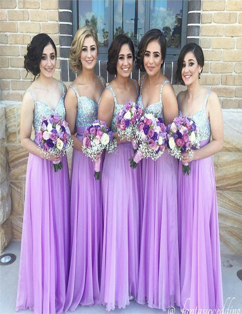 Aliexpress buy cheap pretty pink dress bridesmaid dress aliexpress buy cheap pretty pink dress bridesmaid dress floor length sequined promotions chiffon lavender bridesmaid dresses high quality sale from ombrellifo Images