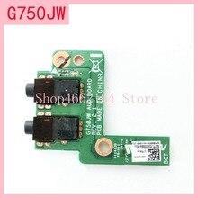 Для Asus ROG G750 G750JX G750JH G750JM G750J G750JW G750JS G750JZ DC плата гнезда для подключения внешнего источника постоянного тока Разъем кнопка включения