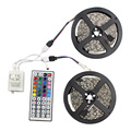 10Meter 5050 RGB LED strip flexible tape DC12V Non-waterproof with 44key IR remote controller decoration led lighting