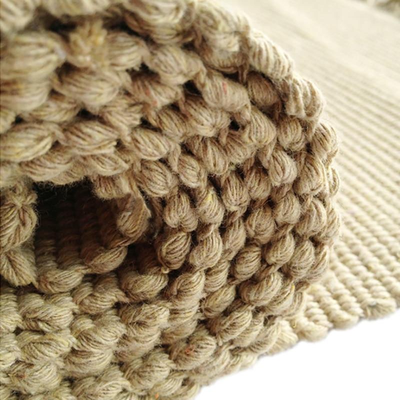 90 x 150 cm moderne couleur lin coton tissé à la main tapis avec ...