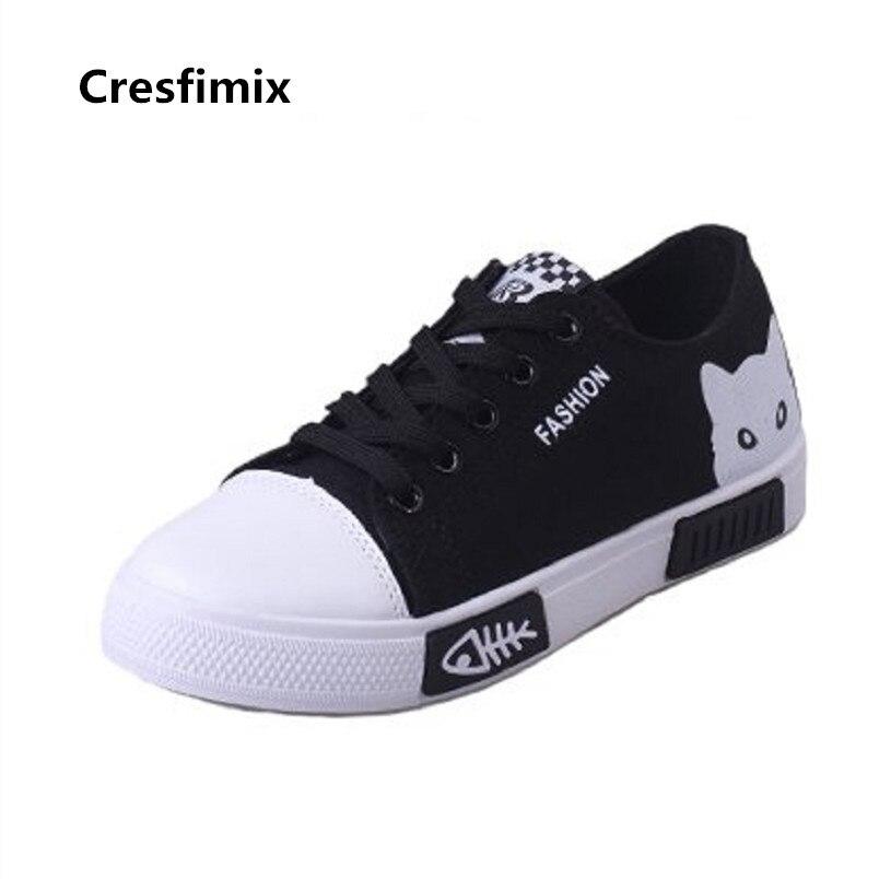 De Las Cresfimix Mujer Blanco Alta b Negro Lona C3411 c Cómodo Zapatos Calidad Moda A Fresco Mujeres dEEwqC