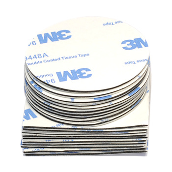 10pc 20mm 30mm 50mm Round Square 1mm Thickness Strong 3M Double-sided Adhesive Tape Car Sticker for Logo Ornamen Emblem Home Use 1