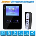 "4"" TFT Door Monitor Video Intercom Home Door Phone Recorder System Support SD/TF Card Door Intercom Wired System For Home F1366A"