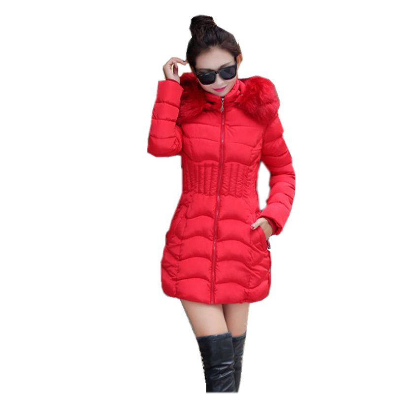2016 Latest Winter Fashion Women Down jacket Hooded Thickening Super warm Medium long Coat Pure color Slim Big yards Coat NZ14 цены онлайн