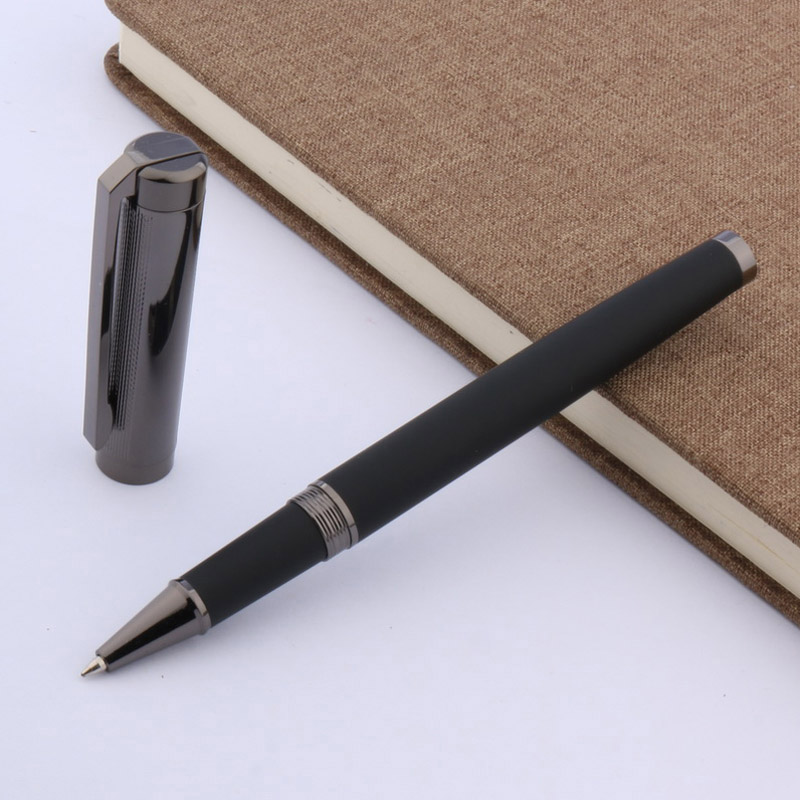 black gift new Porcelain metal  silver Turn classic office Trim Rollerball Pen