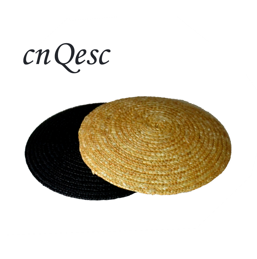 High quality.Natural 11cm wheat straw braid Small Saucer Round Fascinator Base for hair accessory,wedding hat,Kentucky derby