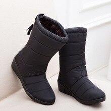 Новый Для женщин Сапоги и ботинки для девочек женские Пух зимние сапоги Водонепроницаемый теплые Обувь для девочек зимние ботильоны женская обувь Обувь на теплом меху botas mujer