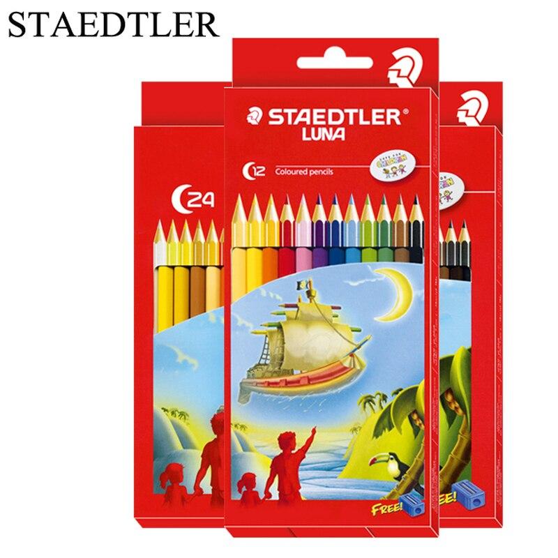 STAEDTLER – ensemble De crayons De Couleur pour dessin, 12/24/36 couleurs, Couleur mate, arc-en-ciel