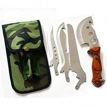 4 in 1 Multi-function Gardening Axe Knife Saw Outdoor Stainless Steel Detachable Cutting Tool Kit Hand Tools Free Shipping
