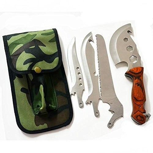 4 In 1 Multifunktions Gartenarbeit Axt Messer Sah Outdoor Edelstahl Abnehmbare Schneidwerkzeug Kit Handwerkzeuge Kostenloser Verschiffen