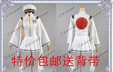 New High Quality Senbonzakura Vocaloid Hatsune Miku Cosplay Costume Army Military White Uniforms Dress Any SizeFree shipping(China)