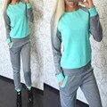 2016 Mulheres Agasalho Sportswear Conjunto Terno Mulheres Com Capuz Camisolas Com Capuz Casuais + Calças