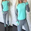 2016 Women Tracksuit Sportswear Set Suit Women Hooded Sweatshirts Casual Hooded + Pants