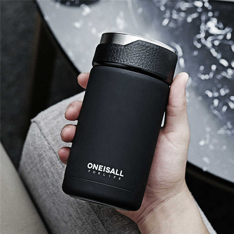 Vacuum Flasks Coffee Thermos Bottles Tea Infuser Coffee Mug 304 Stainless Steel My Car Thermal Insulation Bottle 380ml NEW