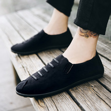 Men Leather Casual Sneakers Loafers Shoes Discount 2018 Spring New Fashion  Flat Heel Breathable Lace-up Light Brand Design