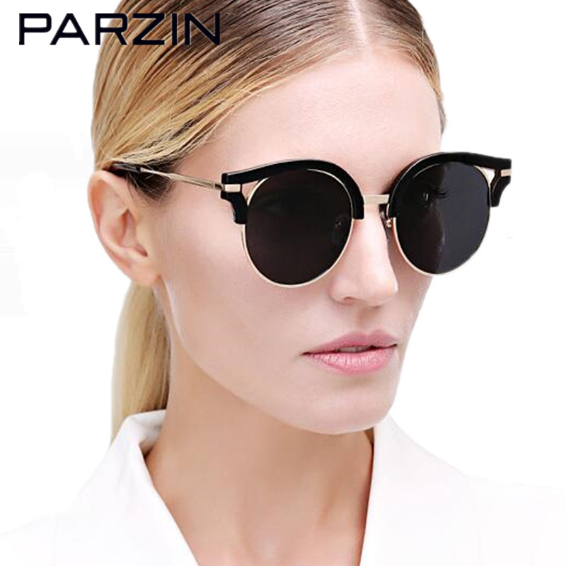 Parzin New Polarized Sunglasses Women Lover Vintage Tr Oversized Sun Glasses Driver