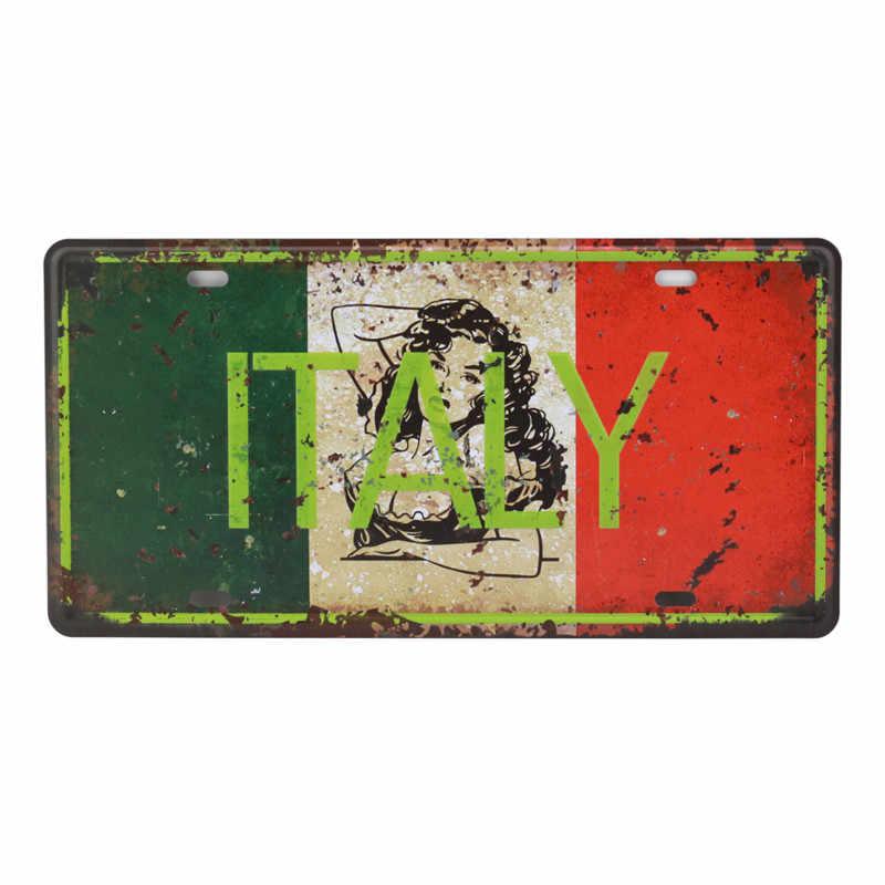 Bar Decorazione Auto Numero di Targa In Metallo In Metallo Poster Decorazione Della Parete di Casa In Metallo In Metallo Poster Texas US 66 Segni D'epoca di Latta 15X30 centimetri C12