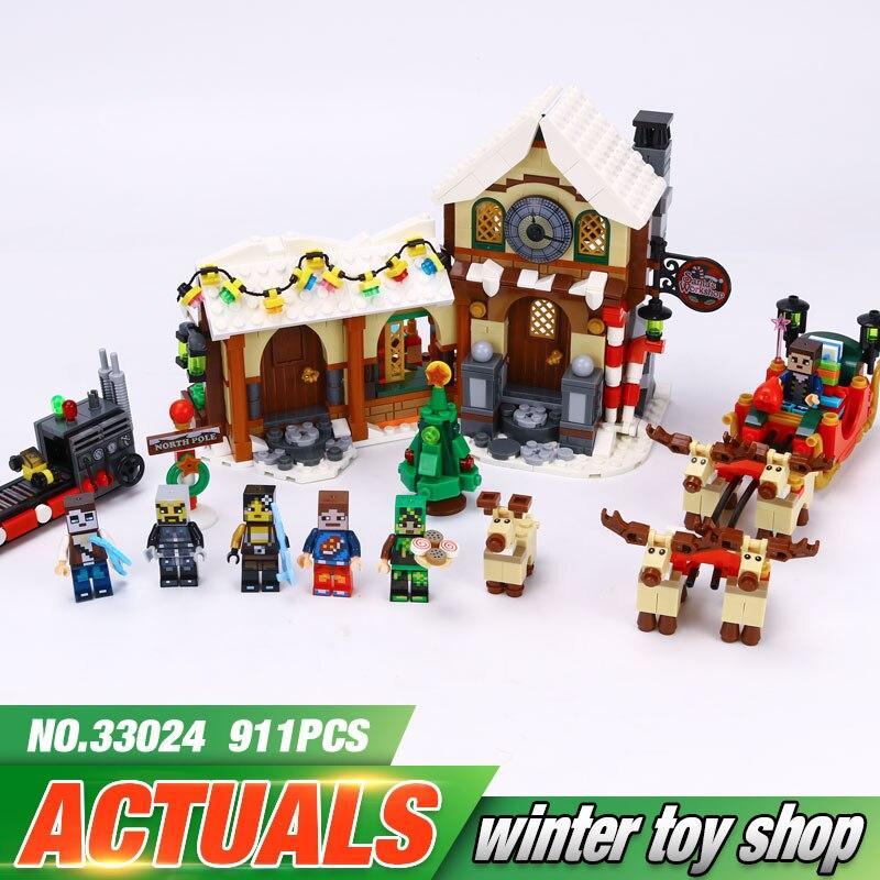 ФОТО Winter Christmas Series The Father Christmas' Working Room Winter Toy Shop 10245 Building Blocks Bricks Educational Toys 33024
