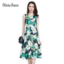 84a2b1f6e9c BURDULLY Marina Kaneva Plus Size M-4XL Summer 2018 vestidos Women Dresses  sleeveless
