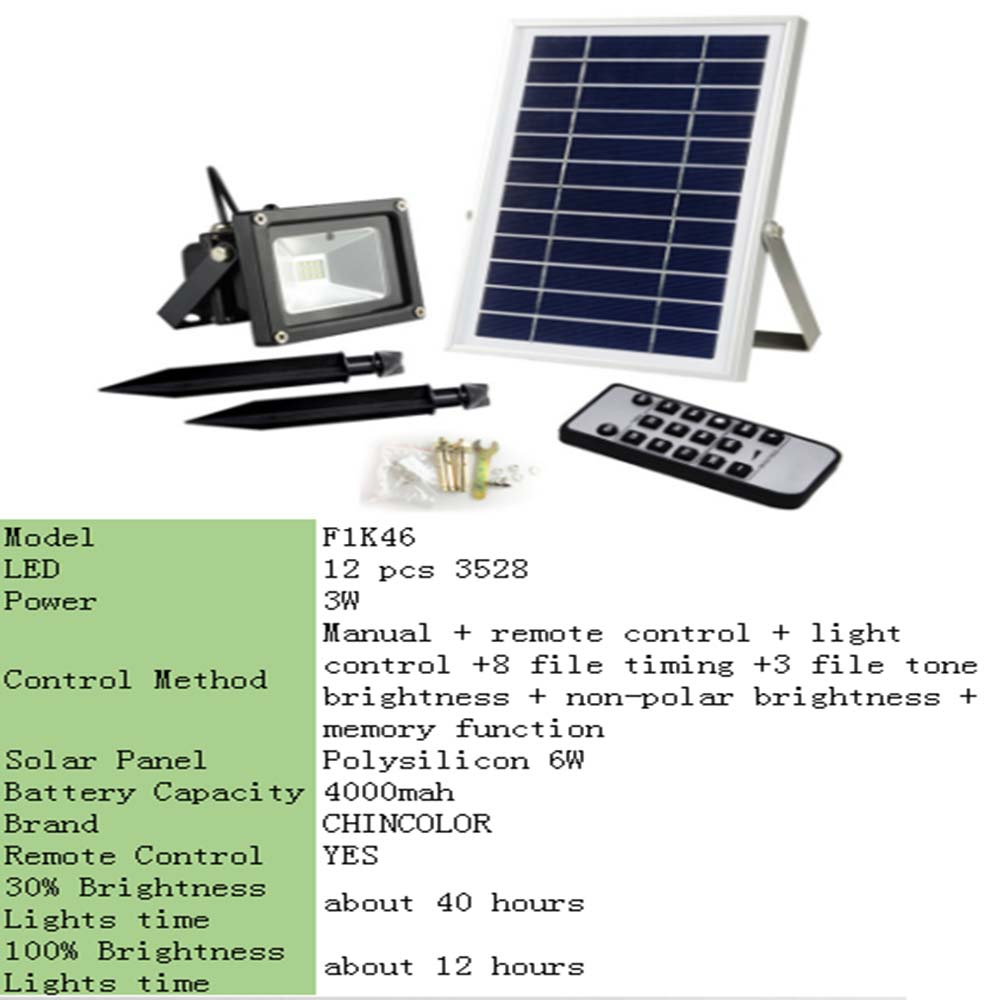 High Power LED Solar Lamp Solar Light Outdoor Waterproof Wall Lamp Security Spot Lighting IP65 Remote Control Solar Wall Lamps - 2