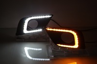 Osmrk led drl daytime running light for Nissan Murano 2015 16, with yellow flicker turn signal, top quality