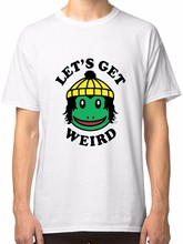 195321b9 Finn Wolfhard Let Get Weird White T-Shirt Tees Clothing Printed T Shirt  Fashion Brand Top Tee Print Tee Shirt for Male