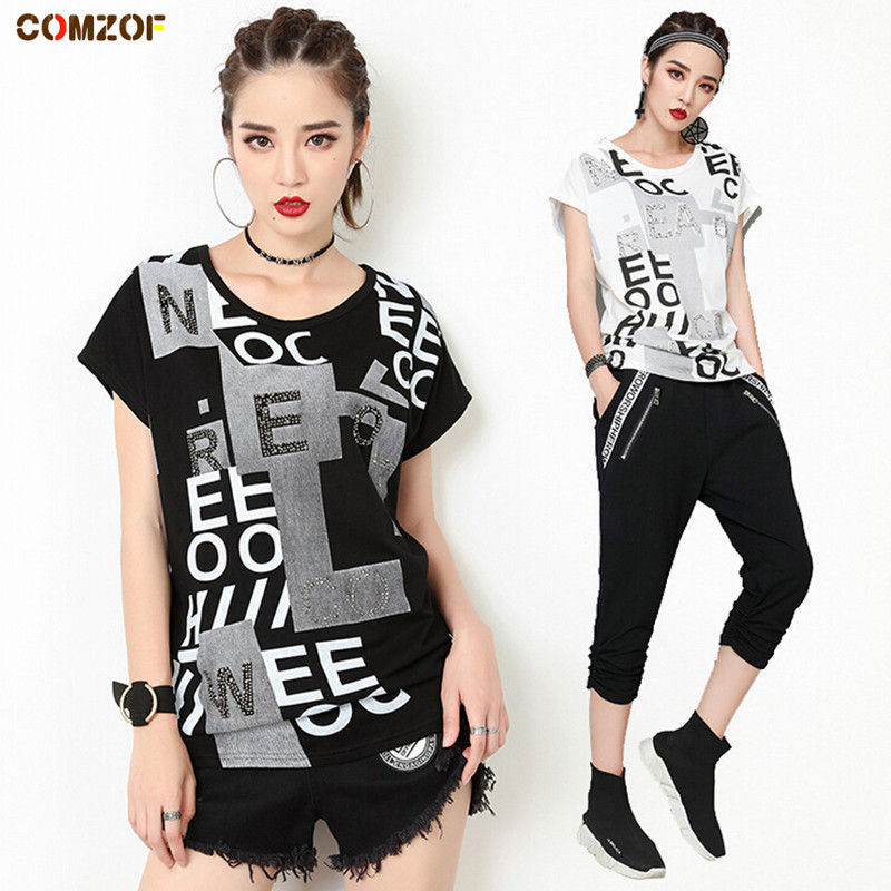 Personality women short sleeve t shirt streetwear back hole loose tops womens fashion letters summer tshirt camiseta feminina