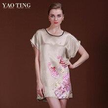 9 Colors Plus Size Silk Satin Robes Nightdress Bathrobes Longue Femme Night Dress Women Robe Nightgown Night Gown 7701-4