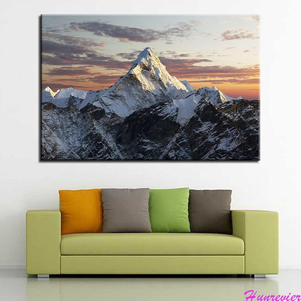 Diamant peinture coucher de soleil paysage neige point de croix diamant broderie modèles strass diamant mosaïque