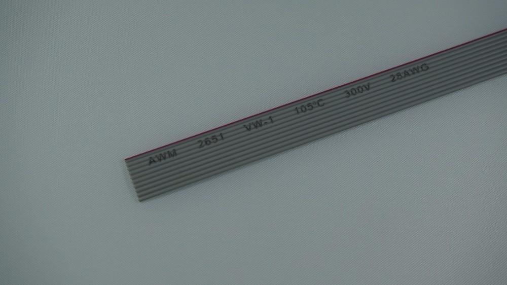 5 meter 10 Pin 1,27mm Pitch AWG 26 Grau Flachband kabel Draht 7x0 ...