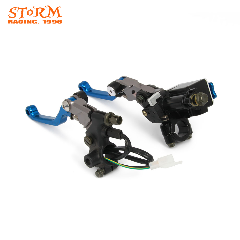 Brake Lever Master Cylinder & Cable Clutch Perch For KTM Husqvarna EXC KXF KLX CRF YZF YZ KLX RMZ CR YZ YZF RM 125 250 300 400 цена