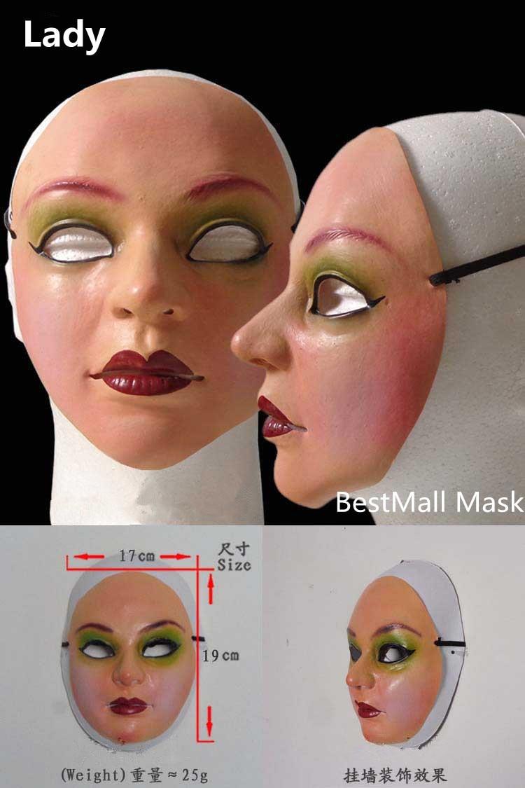 Kadın maske lateks silikon Machina gerçekçi İnsan cilt maskeleri - Tatiller ve Partiler Için - Fotoğraf 2