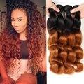 Hot Sale 10A Ombre Brazilian Hair Body Wave Weave 4 Bundles Two Tone Ombre Hair Extensions Bele Virgin Hair Natural Bundle Deals