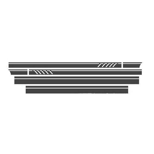 Für Mercedes Benz Seite Rock Auto Aufkleber Gestreiften Top Abdeckung Körper Stick D 648 Benz Auto Schwarz
