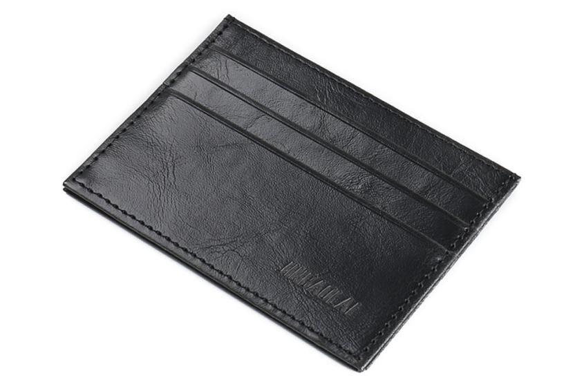 Fashion Retro Men Leather Clutch Billfold Credit ID Card Slim Purse Wallet 2018 Vintage Man Wallet Male Slim Top Quality Leather men pu leather credit card holder billfold wallet purse checkbook clutch