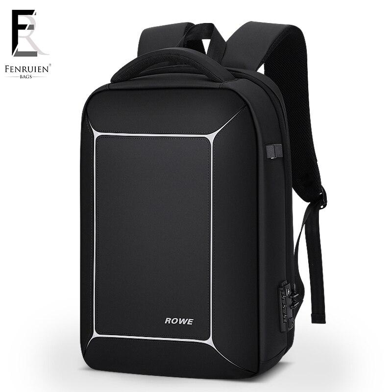 FRN для мужчин рюкзак Универсальный USB дюймов 15 дюймов ноутбук Mochila Мода бизнес большой ёмкость TSA замок anti theft путешествия для мужчин