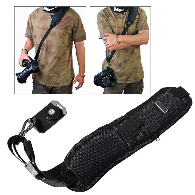 Hoge Kwaliteit Tracking Nummer + Camera Strap Black Rapid Camera Strap Voor Slr Dslr Canon Nikon Sony Camera