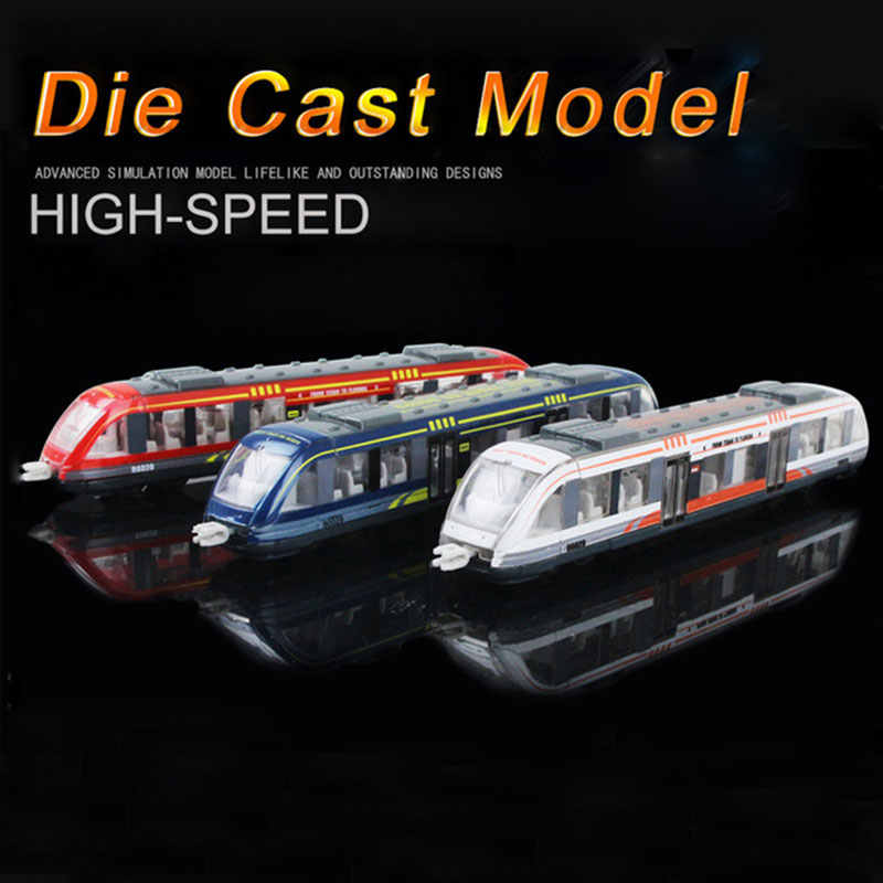 Diecast High-speed Rail Train Model Toy Alloy Simulation Cars Miniature Subway Vehicles Metal Educational Toys For Kids Gift