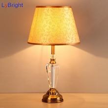 Modernen Europischen Stil Tischleuchte AC 90 260 V Luxus Kristall Tischlampe Fr Wohnzimmer Esszimmer Schlafzimmer Nacht Arbeit