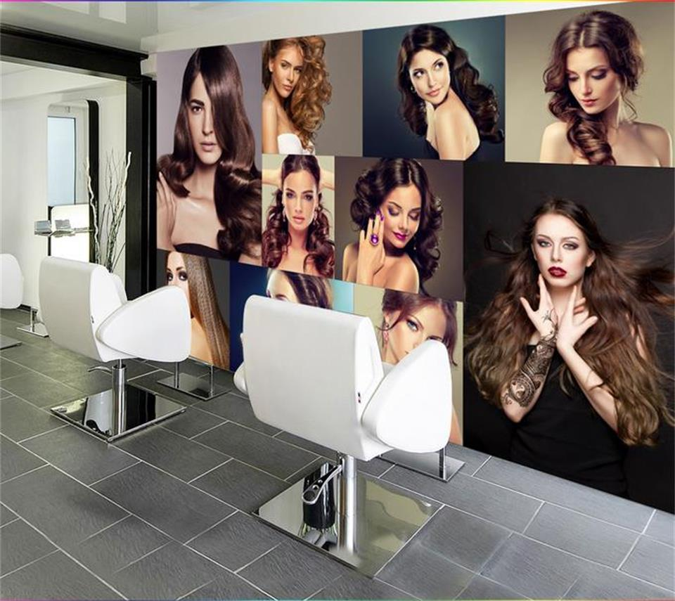 3d photo wallpaper custom mural fashion beauty painting beauty salon barber Shop sofa background non-woven wallpaper for wall 3d