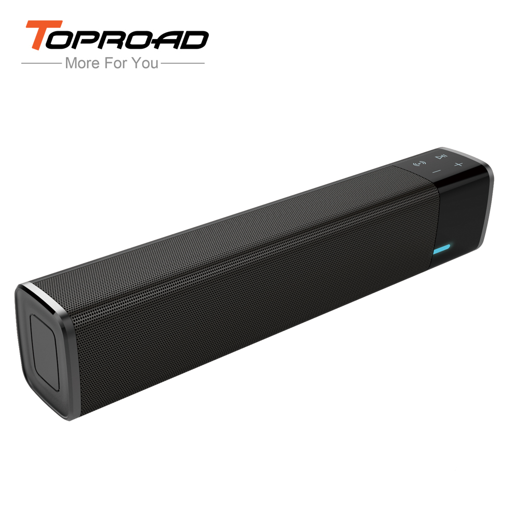TOPROAD TV Soundbar Bluetooth Speaker Dual Bass HIFI Altavoz NFC Wireless Stereo Parlante Support TF AUX